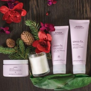 Free Travel Size Item + Pick 4 Samples + Free Shipping with $40 order @ Aveda