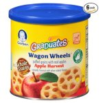Prime Members Only: Gerber Graduates Finger Foods Harvest Apple Wagon Wheels, 1.48-Ounce Canisters (Pack of 6)