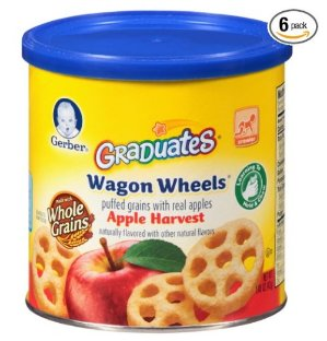 $7.51 Gerber Graduates Finger Foods Harvest Apple Wagon Wheels, 1.48-Ounce Canisters (Pack of 6)