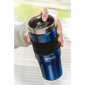 Lowest price! $10.68 Tiger MCE-A048-A Stainless Steel Vacuum Insulated Travel Mug, 16-Ounce, Blue