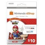 for $10 Nintendo eShop Prepaid Card