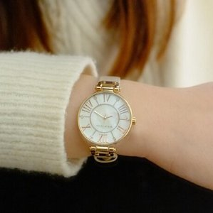 $50 Anne Klein Women's 10/9918RGLP Rose Gold-Tone Watch with Leather Band
