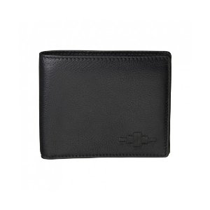 Pampeano 100% Leather Moneda Coin Men's Wallet – Black with Black Diamond | Unineed | Premium Beauty