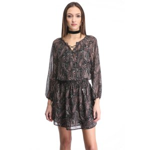 Dex USA Inc. Printed Lace Up Dress | South Moon Under