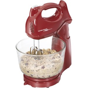 Hamilton Beach Power Deluxe 4-Quart Stand Mixer, 3 Colors