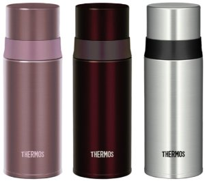 THERMOS stainless steel slim bottle 0.35L Pink FFM-350 P