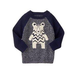 Toddler Boys Gym Navy Bear Sweater by Gymboree