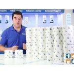 Boardwalk 6145 Bathroom Tissue, Standard, 2-Ply, White, 4 x 3 Sheet, 500 Sheets per Roll (Case of 96)