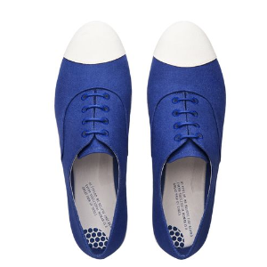 F-Pop™ Canvas Oxford Shoes, Blue | FitFlop™ US