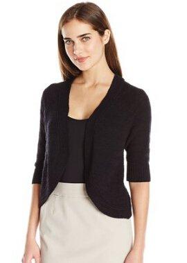 Calvin Klein Women's Striped Texture Shrug