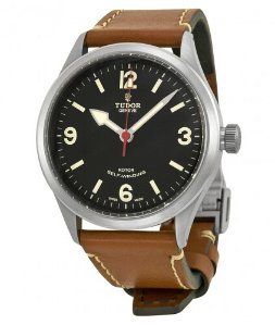 TUDOR Heritage Ranger Automatic Black Dial Brown Leather Men's Watch