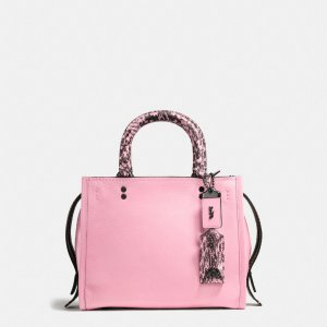 COACH: Rogue 25 In Glovetanned Pebble Leather With Colorblock Snake