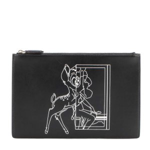 Givenchy - Medium Pouch Bambi© printed leather clutch | mytheresa.com