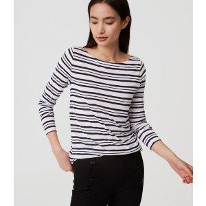 Striped Shirttail Tee | LOFT
