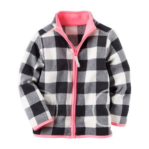 Baby Girl Zip-Up Fleece Jacket   Carters.com