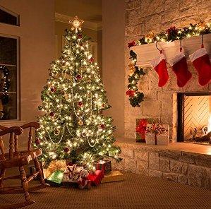 $8.99Cymas Christmas String Lights (100 LEDs Dimmable Decorative Lights 33 ft)