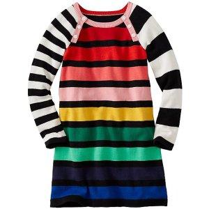 Girls Colorwheel Sweater Dress | Girls Dresses
