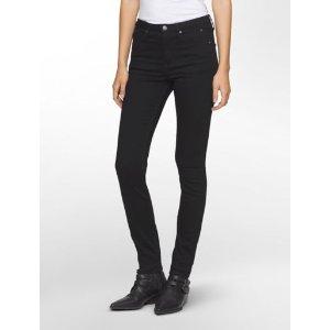 sculpted black stretch skinny jeans   Calvin Klein