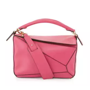 Loewe Puzzle Small Leather Satchel Bag, Pink