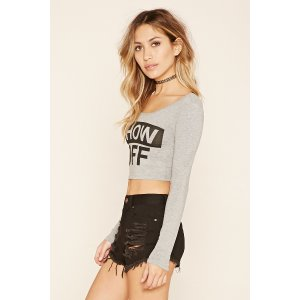 Show Off Graphic Crop Top | Forever 21 - 2000107981