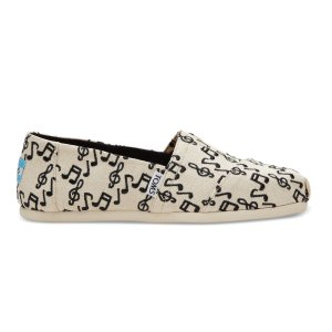 Embroidered Music Note Women's Classics | TOMS