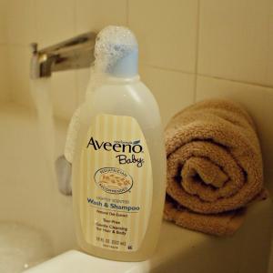 $6.4 Aveeno Baby Wash & Shampoo, 18 Oz