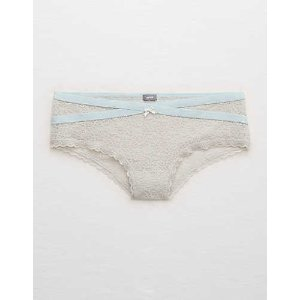 Aerie Everyday Loves Lace Cheeky , Glacier Gray | Aerie for American Eagle