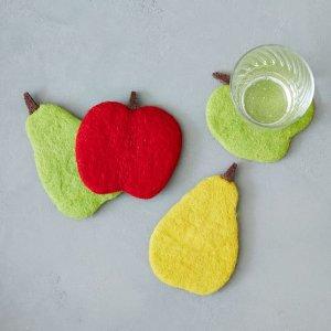 Felt Fruit Coasters (Set of 4) | west elm