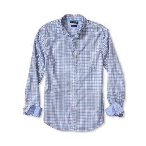 Grant-Fit Custom Wash Complex Check Shirt