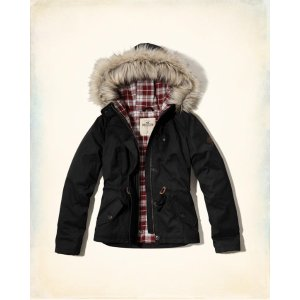 Girls Flannel Lined Anorak Jacket | Girls Clearance | HollisterCo.com