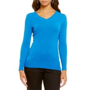 Alex Marie Sophia V-Neck Cashmere Sweater