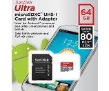 SanDisk闪迪 Ultra 64GB 闪卡 配适配器
