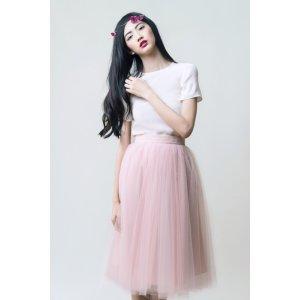 Gretta Tulle Skirt - Ballet Pink - 30