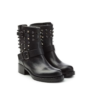 Embellished Leather Ankle Boots from VALENTINO | Luxury fashion online | STYLEBOP.com