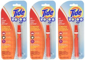 $9.49 Tide To Go Instant Stain Remover Liquid Pen, 3 Count