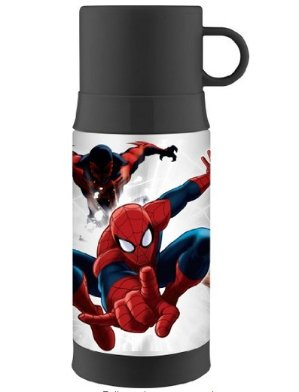 Thermos Funtainer 12 Ounce Warm Beverage Bottle, Spiderman