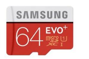 Samsung EVO 64GB microSDHC Class 10 UHS-1 Memory Card