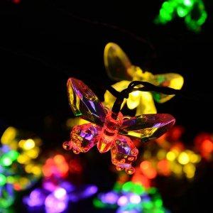 Qedertek 7.5米防水LED蝴蝶型灯束,40个LED灯