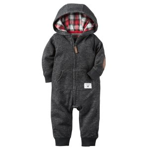 Baby Boy Hooded French Terry Jumpsuit | Carters.com