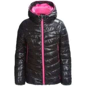 Spyder Hooded Plainweave Puffer Jacket (For Little and Big Girls)