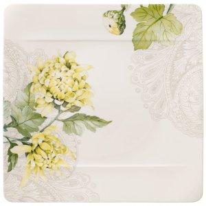 Quinsai Garden Square Dinner Plate : Chrysanthemum 10.5 in - Villeroy & Boch