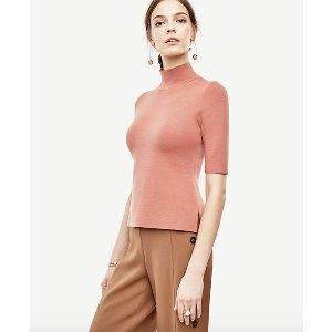 Mock Neck Pullover | Ann Taylor