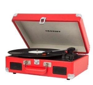 $50.33(原价$68.5)Crosley CR8005C Cruiser II 便携式3速黑胶唱机