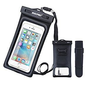 For free Waterproof Case, RISEPRO® Floatable Underwater Pouch Dry Bag With Armband & Audio Jack
