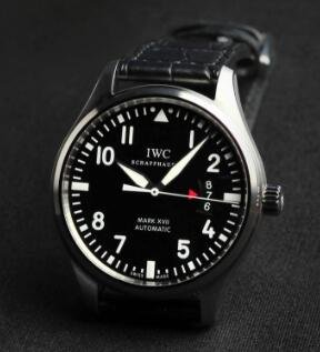 IWC Pilots Mark XVII Black Alligator Men's Watch