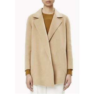Double-Face Wool-Cashmere Relaxed Jacket