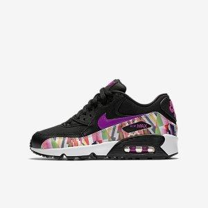 Nike Air Max 90 Print Mesh (3.5y-7y) Big Kids' Shoe