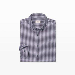 Mens | Plaid | Slim Violet Gingham Shirt | Club Monaco