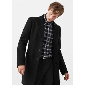 Tailored wool-blend overcoat - Man | MANGO Man USA