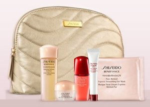 Choose From Four 6-pc Gifts of Deluxe Samples with Your Purchase of Any 2 Shiseido Skin Care Items @ Nordstrom
